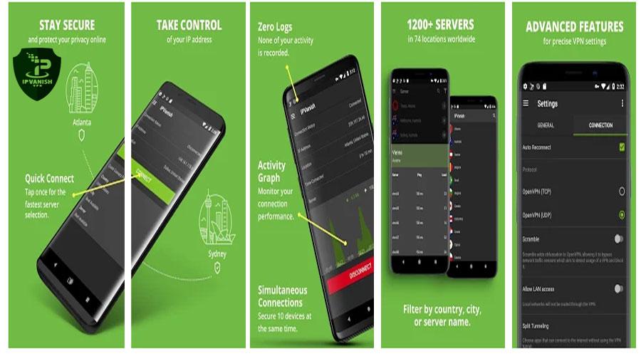 IPVanish  the fastest Android VPN App