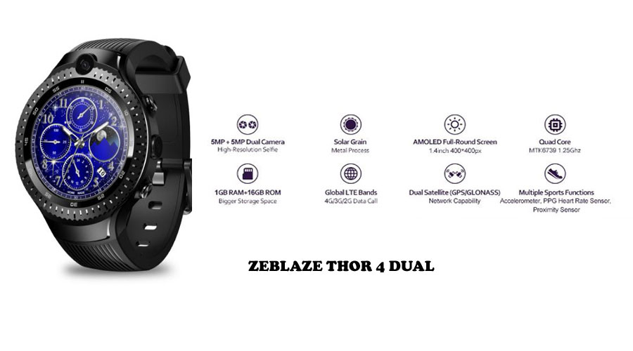 Zeblaze Thor 4 Dual Smartwatch Features