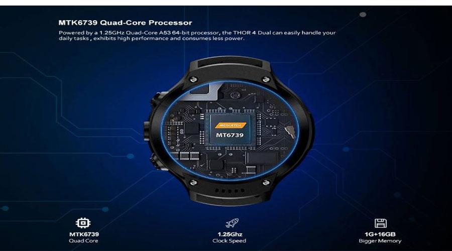 Zeblaze THOR 4 Dual Smartwatch hardware