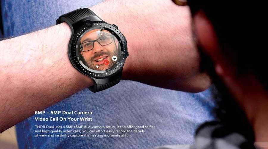 Dual Cameras on Zeblaze Thor 4 Dual