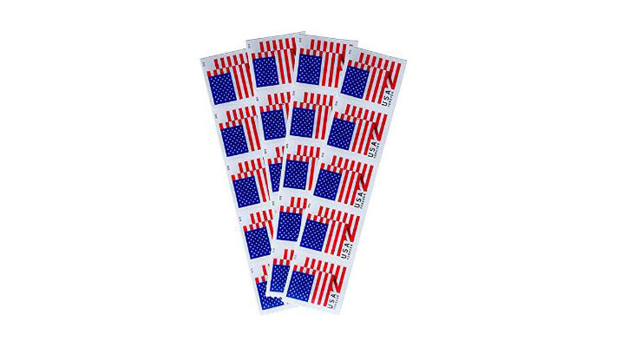 flag strip postage stamps