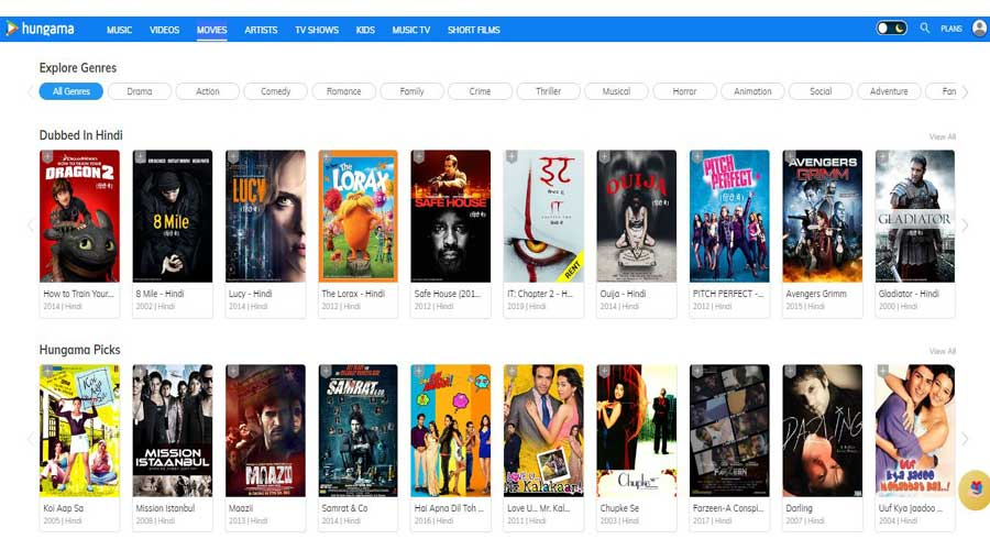 hungama hindi movies online