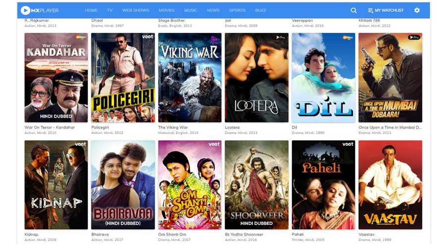 mx player free movies online