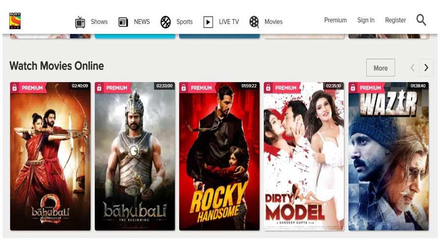 sony hindi movies online
