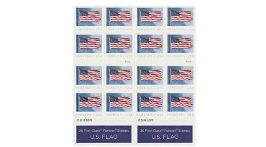 usa flag postage stamps