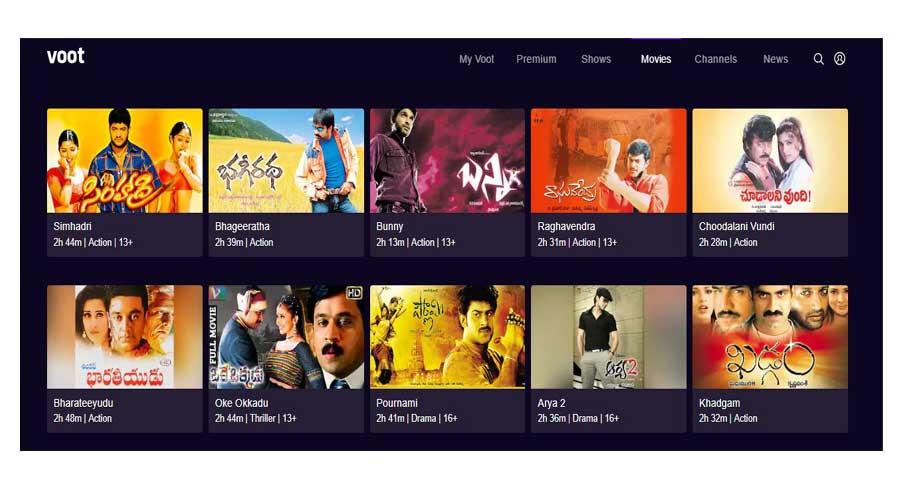 Voot telugu movies online