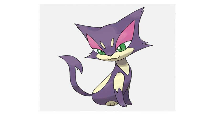 purple cat pokemon